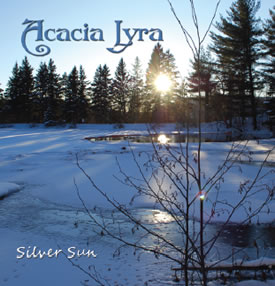Canadian harp music CD from Acacia Lyra, Silver Sun cd cover