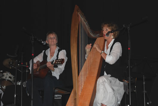 Susan and Janine performing at the Almonte Celt Fest in July 2009