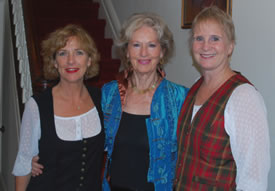 Harp musicians Susan and Janine with Mary O'Hara
