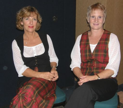 Susan and Janine in 2009